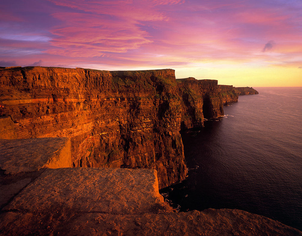 Cliff Coast Cliffs of Moher, Sunset